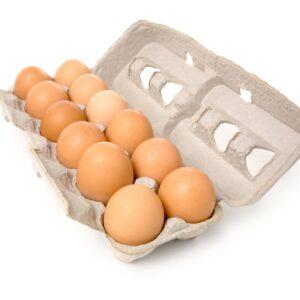 Brown Egg Tray (12 pcs)