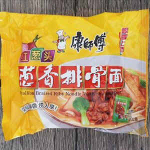 Scallion Braised Ribs Noodle With Shallot Flavor