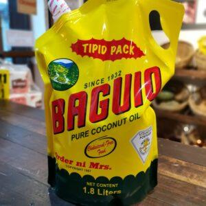 Baguio Oil Pure Coconut oil Refill Pack 1.8L