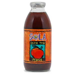 Sola Iced Tea Peach Bottle