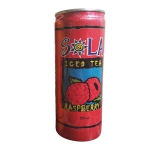 Sola Iced Tea Raspberry in can