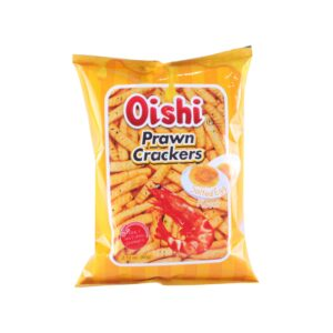 Oishi Prawn Crackers Salted Egg Flavor 60g